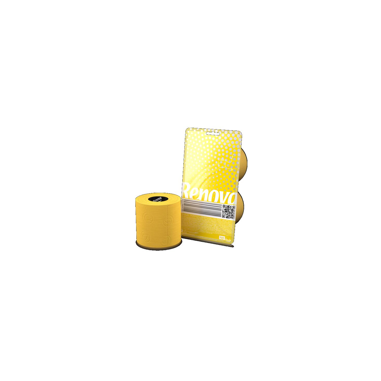 Papier wc jaune 2 rouleaux - Papier toilette colore ...