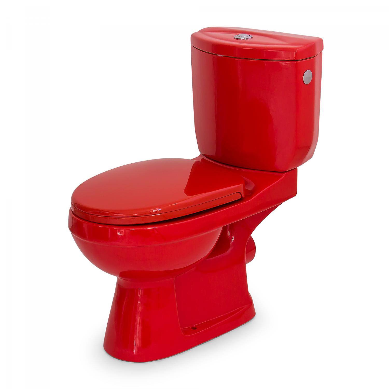 wc couleur - wc vert,wc rouge,wc jaune,wc noir chez Loobow - Loobow