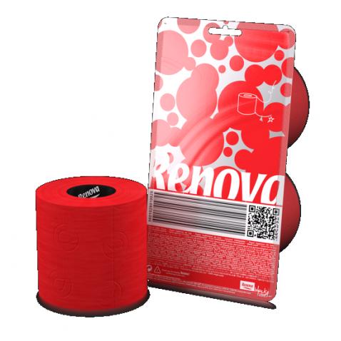 Papier WC rouge (2 rouleaux)