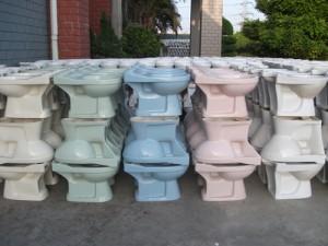 WC de couleur pale