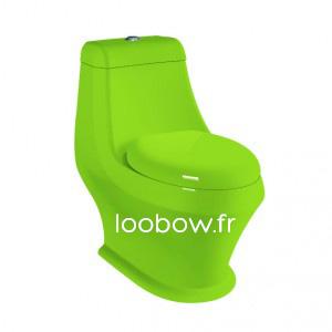 Loobow : WC couleur vert monobloc