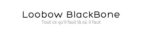 WC noir Loobow