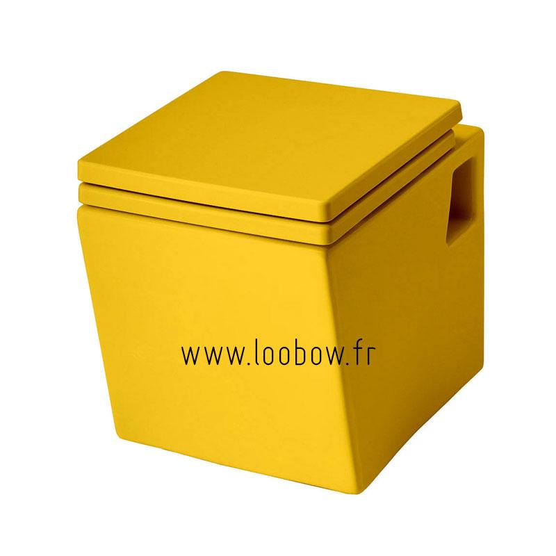 WC suspendu couleur jaune