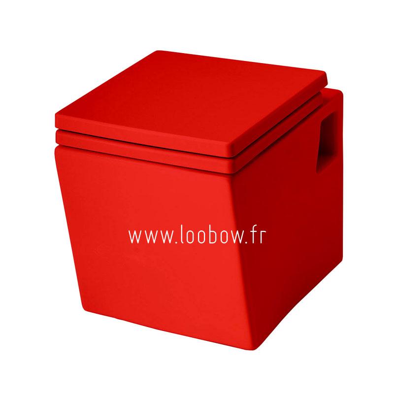 WC suspendu couleur rouge