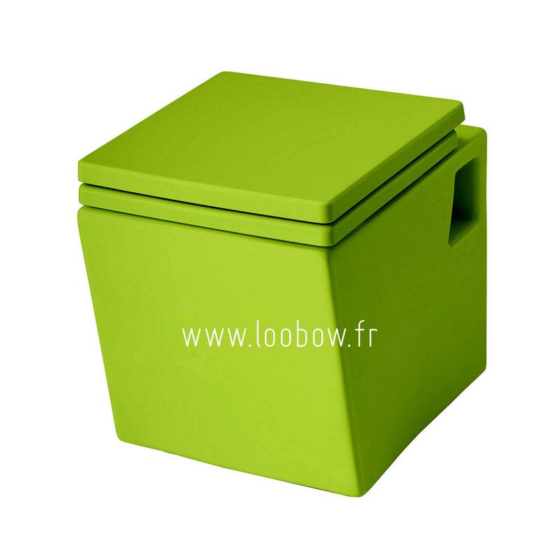 WC suspendu couleur vert